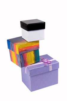 Free Stack Of Different Gift-boxes Stock Images - 8035594