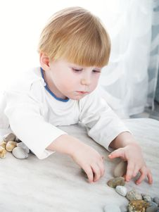 Free The Serious Little Boy Royalty Free Stock Image - 8035876