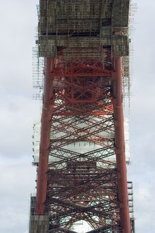 Free Scaffolding And Structure Of The Forth Rail Bridge Royalty Free Stock Photos - 8036748