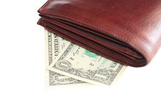 Free Wallet With Money Royalty Free Stock Image - 8036896
