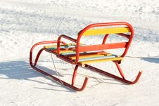 Child Sled Royalty Free Stock Photos