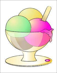 Free Ice Cream In A Bowl Royalty Free Stock Image - 8037656