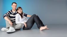 Free Attractive Affectionate Young Couple Stock Photography - 8037672