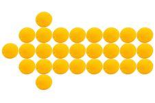 Free Orange Long Arrow Left Royalty Free Stock Image - 8038136