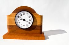 Free Wooden Clock With Shadow Stock Photo - 8038510