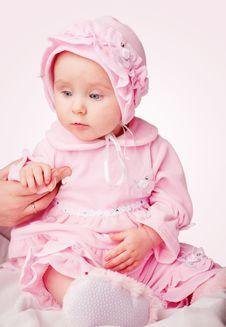 Free Small Girl In Pink Pajamas Stock Photos - 8038513