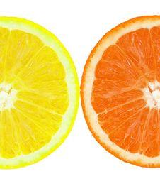 Free Coloured Orange Slince Stock Photo - 8038540