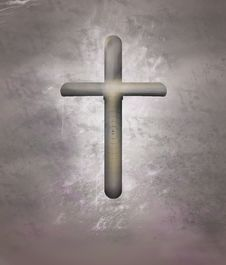 Free Simple Wooden Cross On Grunge Stock Photo - 8038960