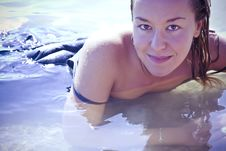 Free Sensual Blonde In Water Stock Photography - 8039082