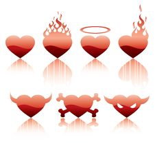 Free Hearts Inferno Character Royalty Free Stock Image - 8039546