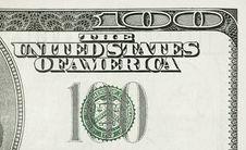 Free Hundred Dollar Detail Stock Photo - 8039830