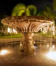 Free Fountain And Trees In Resort After Dark Royalty Free Stock Images - 8045189