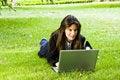 Free Businesswoman On The Grass Stock Photo - 8049220