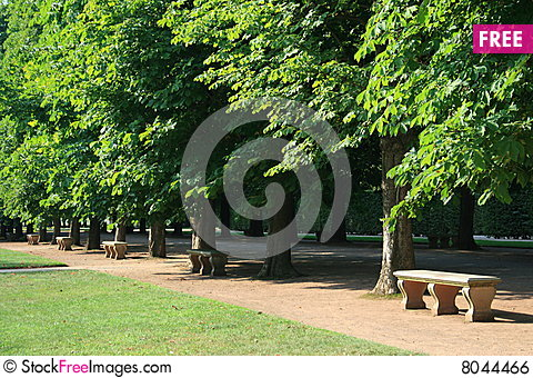 Free Park Benches Royalty Free Stock Image - 8044466