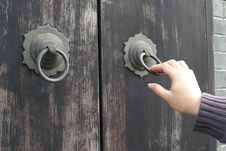 An Old Chinese Door Stock Photography
