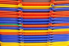 Free Colorful Plastic Basket In The Market Royalty Free Stock Photo - 8040405