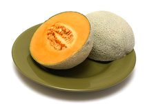 Free Cantaloupe On A Plate Stock Photos - 8040683