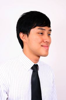 Free Young And Confident Asian Business Man. Royalty Free Stock Photography - 8040777