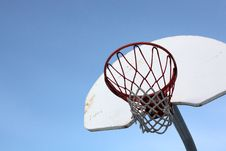 Closeup Basket Backboard Stock Photo