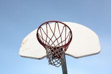 Closeup Basket Backboard Royalty Free Stock Photography