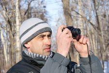 Free The Man Photographes In The Winter Royalty Free Stock Photos - 8041128
