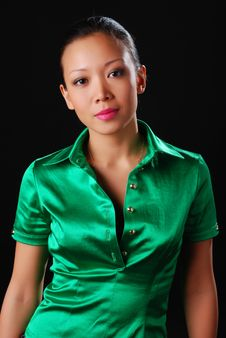 Free Woman In Green Shirt Royalty Free Stock Photo - 8041455