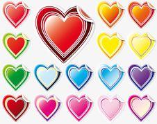 Free Set Of Hearts Stock Image - 8041551