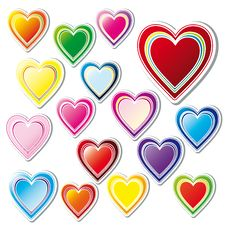 Free Set Of Hearts Stock Photography - 8041562