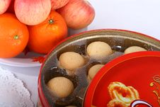 Free Fruit And Cookies Royalty Free Stock Photography - 8041977