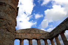 Greek Temple Columns, Sicily Royalty Free Stock Photos