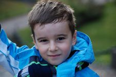 Free Boy In A Blue Jacket Stock Images - 8042324