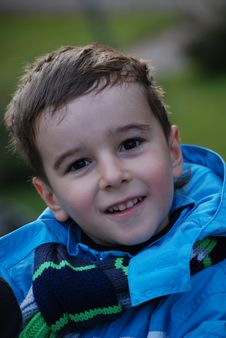 Free Boy In A Blue Jacket Stock Image - 8042341