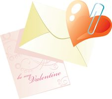 Free Valentine Heart In Envelope Royalty Free Stock Photography - 8042417