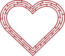 Free Red Heart Labyrinth Stock Photo - 8042800