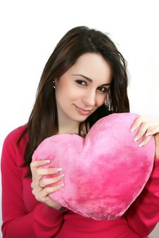Free Woman With A  Heart Stock Photos - 8043023
