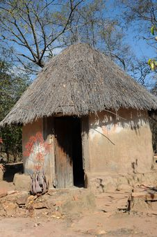 African Hut Royalty Free Stock Images