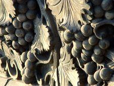 Free Brick Carvings Of Grapes Royalty Free Stock Photo - 8044115