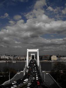 Bridge Over The Danube Stock Images