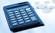 Free Calculator With Money Stock Image - 8044631