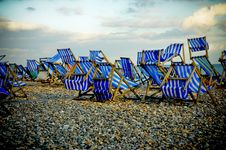 Free Deckchairs Royalty Free Stock Image - 8044826
