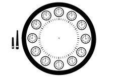 Free Designed Clock Royalty Free Stock Photos - 8045198