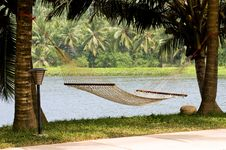 Free Lonely Hammock In Beautiful Resort Stock Photo - 8045270