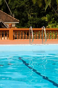 Free Swimming Pool In Indian Holiday Resort Stock Photos - 8045273