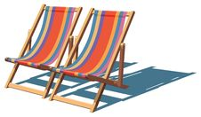 Free Deckchairs Royalty Free Stock Photography - 8045847