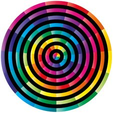 Free Abstract Colorful Circle Stock Image - 8046261