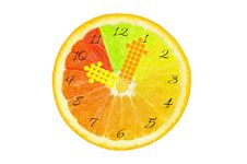 Fruits Clock Royalty Free Stock Photos