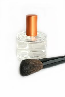 Free Perfume And Brush Stock Images - 8046474