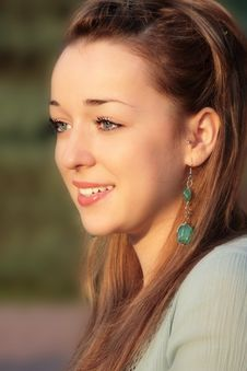 Beautiful Young Lady In Golden Light Of Summer Sun Stock Image