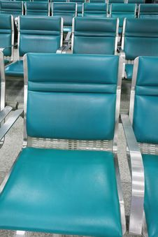 Empty Seats In Airport Stock Photo