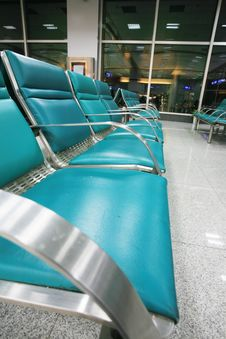 Empty Seats In Airport Royalty Free Stock Images